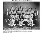1910 NSW State Team v QLD in Brisbane