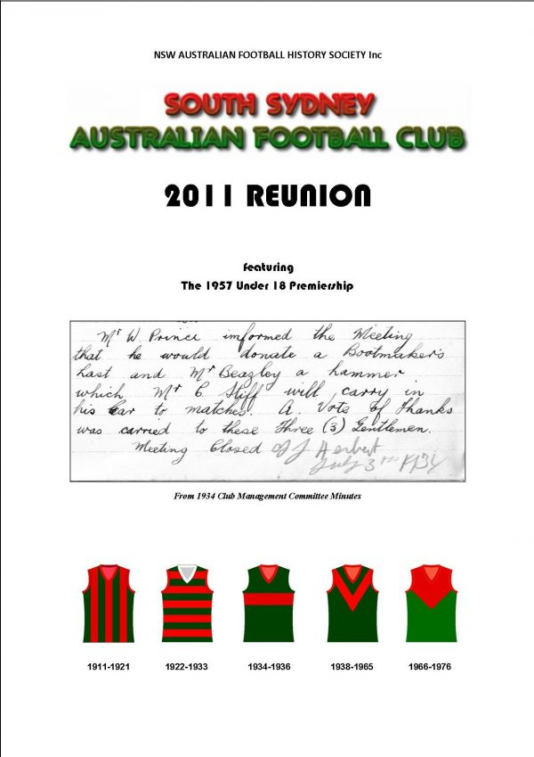 South Sydney Australian Football Club history