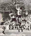 1970 Sydney Grand Final - Newtown's Roger Ramsay marking