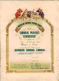 Bryan Joseph Rush Carnival Certificate 1924 small