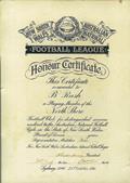 Bryan Joseph Rush Honour Certificate smaller