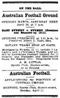 1912-04-17 Sydney Sportsman p.2 - Ad for Ground Opening thumbnail