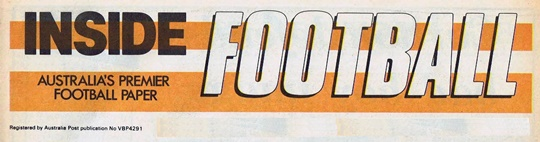 1986 Inside Football Banner for Title Page