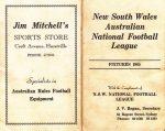 1965 Sydney Football League Fixture Card