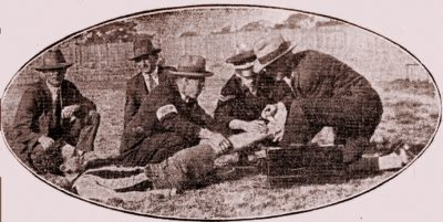 1928 Wests Reserve Grade Receiving First Aid Attention
