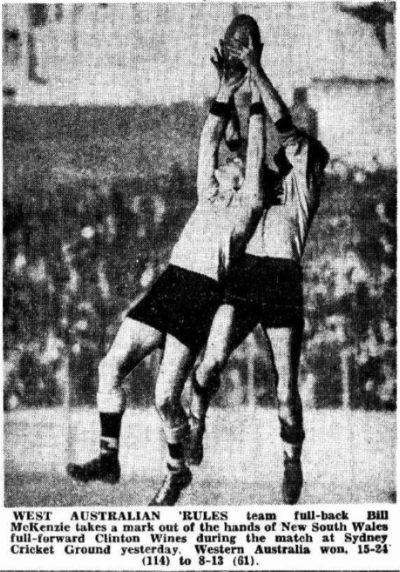 1949 – NSW v Western Australia at the SCG