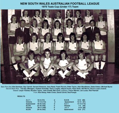 1975 NSW AFL Teale Cup (Under 17) State Team
