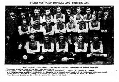 1905 Sydney FC 1st Grade Premiers